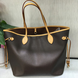 Chinese  designer handbags 2019 classical hot sale style Naverfull genuine cow high leather top quality luxury tote clutch shoulder shopping bag manufacturers
