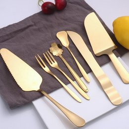 Western Product Australia - Stainless Steel Dinnerware 14 Designs Outdoor Tableware Western Dinner Cutlery Knife Fork Spoon For Kitchen Restaurant 2 Pieces ePacket