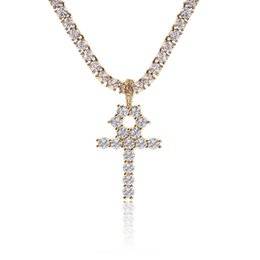 $enCountryForm.capitalKeyWord Australia - USENSET Iced out Key of Life Bling CZ Fancy Cross Pendant Necklace Set Men Hip Hop Charm Jewelry Gift