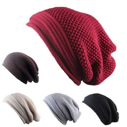 Yiwu star online shopping - 2019 New Star Brand Knitted Caps Fashion Folding Winter Hats For Women And Men Skullies Beanies Acrylic Cotton Colors