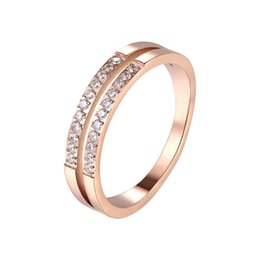 beautiful rings for women 2019 - Beautiful Double-layer Set With 22 Zircon Rings For Wedding Titanium Steel Top Quality Brand Love Woman Ring Wholesale c