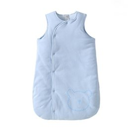 winter sack baby UK - Toddler Sleep Sack Sleeveless Winter Sack Baby Cotton Newborn Baby Sleeping Bag 3 Colors