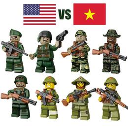 $enCountryForm.capitalKeyWord Australia - WW2 World War II The Vietnam War Against USA Army Military Mini Toy Figure With Weapon Building Block Brick For Kid Boy