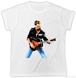 george t shirt 2019 - George Michael T-Shirt WHAM Guitar Music Novelty Unisex Tshirt cheap george t shirt
