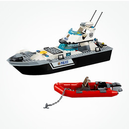 toys boats NZ - City Police Patrol Boat 200 Pcs Military Swat Team Set Toys For Children CityMX190820