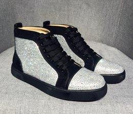 Опт Redshoes For Mens Sneaker Марка Любители вечеринок Натуральная кожа Низ Дизайнерская обувь Spike размер 36-47 Дизайнерские кроссовки