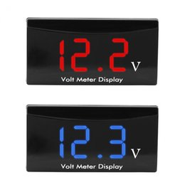 voltage meters for cars 2019 - DC 8-16V LED Digital Display Voltmeter Mini Voltage Meter Volt Tester Panel for DC 12V Cars Motorcycles Vehicles. cheap