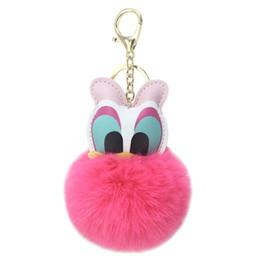 $enCountryForm.capitalKeyWord Australia - Cute new artificial leather duckbill key chain pendant lady bag car key hang creative gifts, plush toys