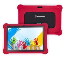 [Elemento de bonificación de 4] Simbans TangoTab PC con tableta roja de 10 pulgadas con estuche rojo   Bloqueo parental y aplicaciones educativas para edades de 3 a 8 años   2GB RAM, 32GB Dis