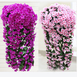 mounted art UK - Hanging Artifical Violet Decor Plant Art For Home Purple 1 Bunches