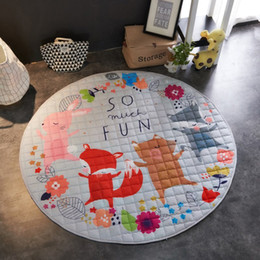 Carpet Bags Australia - Living Room Floor Cartoon Baby Playing Blanket Carpet Toy Storage Bag Dolls
