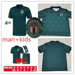 football italy NZ - Kids kit and Adult Italy Home Jersey 2019 2020 De Rossi Bonucci Verratti Chiellini INSIGNE Belotti Jerseys 2019 Italy Football Uniform