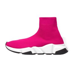 Black White Red Rose Australia - Designer fashion men women Speed Trainer Sock Shoes Rose black white red glitter Casual Shoes mens Trainers Runner-a5612d5w1d51w5