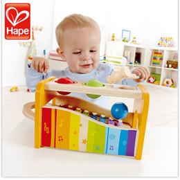 HAPE Wood Children Boy Girl Illuminismo strumento musicale precoce melodia battente giocattolo gioco di pianoforte in Offerta