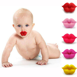 dummy baby lip Canada - 2020 Newest Children Funny Pacifier Teether Orthodontic Safe Soother Dummy Lip Baby Silicone Nipple Soother Colorful Soother