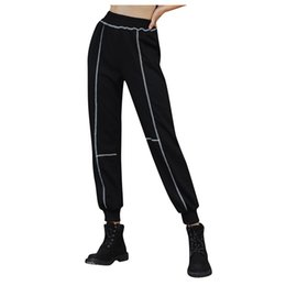 ladies yoga pants wholesale Australia - women yoga pants sportswear Women's Casual Sports Pocket Loose Pants Ladies Loose Seamless high waist plus size