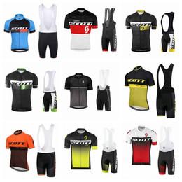 $enCountryForm.capitalKeyWord Canada - SCOTT team Cycling Short Sleeves jersey bib shorts sets jersey Trousers Breathable Bike Wear 52267