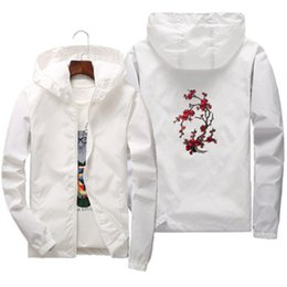 White Rose Pattern Australia - USA size Spring summer Couple Rose pattern Sun protection jacket men women Bomber coat zip outerwear thin Windbreaker clothing