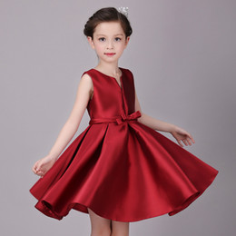 $enCountryForm.capitalKeyWord Australia - 2017 new red girls princess dress dress Korean version of the flower girl wedding costumes fluffy dress generation