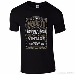 $enCountryForm.capitalKeyWord NZ - Made In 1970 T-Shirt Born 48Th Year Birthday Age Present Vintage Funny Mens Gift Men's O-Neck Printed Tee Shirt