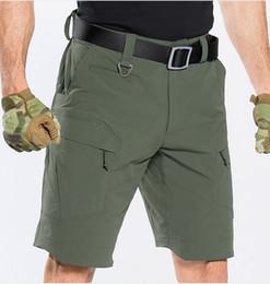 Extérieur Camping Randonnée Escalade Court Pantalon Hommes Homme séchage rapide Respirant Sport élastique Pêche Chasse tactique Homme Shorts en Solde