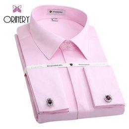 $enCountryForm.capitalKeyWord NZ - ORINERY Size S-4XL Hot Sale Soild Mens Tuxedo Dress Shirt New Long Sleeve French Cuff Shirt With Cufflinks Brand Wedding Dress #508200