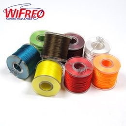 Discount wire wrapping - 150m Spool Fishing Rod Guides Wrap Line Eyelet Tying Line Red White Yellow Blue Roding Building Material