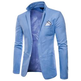 Men White Linen Casual Suits Australia - 2018 New Brand Wholesale 9 Colors Men Blazers Slim Fit Single Button Male Blazers White Men Suit Casual Jackets M-4XL