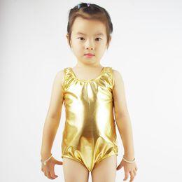 $enCountryForm.capitalKeyWord NZ - Speerise Toddler Gold Girls Ballet Dance Leotards Shiny Metallic Children Lycra Spandex Gymnastics Suits for Kids Leotards