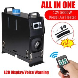 12v heaters for cars 2019 - 5KW 12V Integration Single Holes Air Diesels Air Parking Heater LCD Screen Switch Car Heater with Remote control For Tru