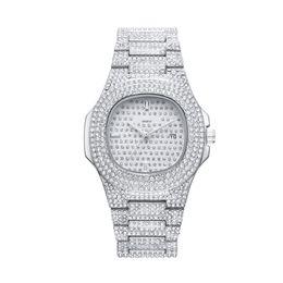 Diamond Bracelet Digital Watch UK - relogio masculino diamond ladies watch fashion black dial calendar gold bracelet folding buckle style ladies 2019 couple gifts