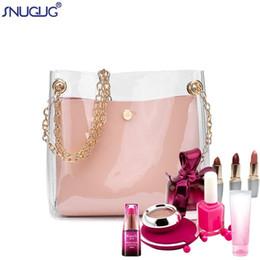 Pink Transparent Cosmetic Bag Australia - SNUGUG 2019 New 2Pcs Set Transparent Makeup Bag Lady Mini Pvc Clear Cosmetic Bag For Women Handbag Organizer Shoulder Vanity