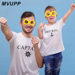 $enCountryForm.capitalKeyWord NZ - Father and son family matching clothes captain first mate print t shirt daday baby boy cool looking outfit naughty kids clothing