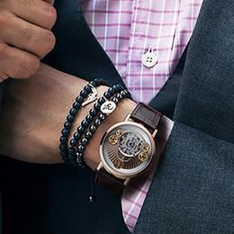 $enCountryForm.capitalKeyWord Australia - Reef Tiger RT 2019 New Luxury Quartz Watches Men Waterproof Real Leather Strap Skeleton Quartz Watch Relogio Masculino RGA1958