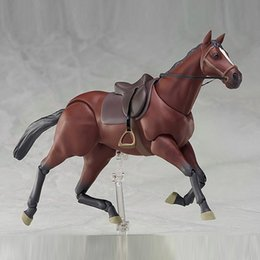 model horses NZ - Anime Cartoon Horse Chestunt Action Figure Model Toy Collection Kids Movable joint Action Toys AN88 T200618