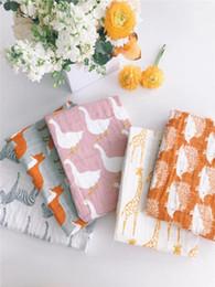 $enCountryForm.capitalKeyWord Australia - DHL 50pcs Baby Soft Organic Cotton Baby Blanket Swaddle Wrap Feeding Burp Cloth Towel Scarf Stuff
