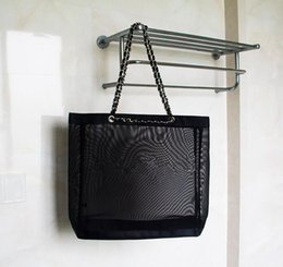 $enCountryForm.capitalKeyWord Australia - Collection fashion item mesh chain Bag luxury printed Travel case Cosmetic Makeup Storage mesh Case Beach mesh bag