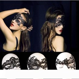 masked costumes for women UK - Worldwide Black Sexy Lady Halloween Lace Mask Cutout Eye Mask for Masquerade Party Fancy Mask Costume for Halloween Party