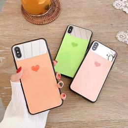 $enCountryForm.capitalKeyWord Australia - Soft TPU Mirror Case 3D Cartoon Cute Matte Love Heart Couple Case for IPhone X XS MAX XR 8 7 6 6S PLUS 7plus 8plus Phone Shell Cute