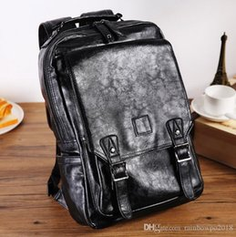 $enCountryForm.capitalKeyWord Australia - Factory wholesale brand male package new high quality leather fashion double shoulder backpack academy wind leather Korean shoulder Backpack