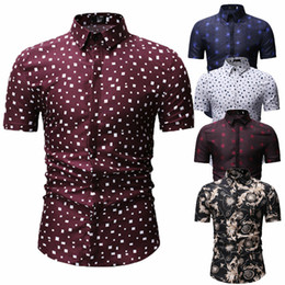 Wholesale mens slim fit casual t shirts resale online – Mens Casual Formal Shirt Short Sleeve Slim Fit Formal Dress Shirts Tops T Shirts