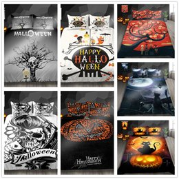 $enCountryForm.capitalKeyWord Australia - Beautiful Bedding Set Twin Full Queen Size Happy Halloween series Comforter Cover for kids with pumpkin skull of Home Bedclothes