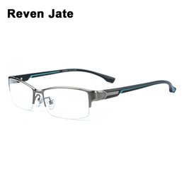 Reven Jate Super Fashion Men Eyeglasses Frame فائقة خفيفة الوزن مرنة IP طلاء المعادن المواد حافة نظارات رجل