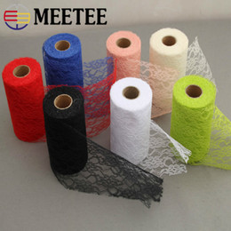$enCountryForm.capitalKeyWord NZ - Meetee 15cm Color Lace Roll Ribbon Fabric DIY Handmade Wedding party Chair Clothing Home Decor Sewing Material BD342