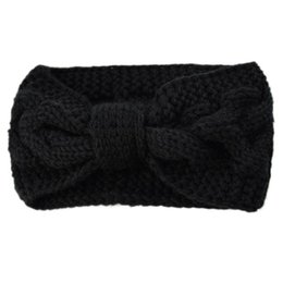 TwisTed cables online shopping - Womens Chunky Cable Knit Turban Headbands Bowknot Knit Hair Band Warm Winter Hair Band Twist Head Wrap Ear W77