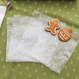 Transparent Gift Wrapping Paper Australia - birthday party 100pcs Plastic Transparent Cellophane Polka Dot Candy Cookie Gift Bag with DIY Self Adhesive Pouch Wedding Birthday Party