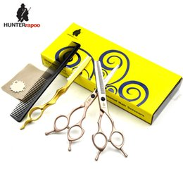$enCountryForm.capitalKeyWord Australia - HUNTERrapoo HT9170 5.5 6 7inch professional hair cutting and thinning scissors set for barber hairdressing shears GOLDEN
