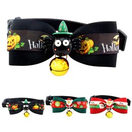 $enCountryForm.capitalKeyWord Australia - Halloween Christmas Dog Pet Collar with Bell Santa Claus Collar XS M Padded Extra Small Large Medium Dog Supplies