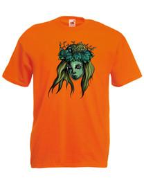 b8ca2bb8cc35b Zombie Horror Fairy Lady Goddess Quality t-shirt tee t shirt mens unisex  Funny free shipping Unisex Casual top shirt