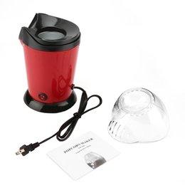 Toptan satış Elektrikli Popcorn Maker Ev Yuvarlak / Kare Sıcak Hava Popcorn yapma AB / ABD Tak ile Makinası Mutfak Masaüstü Mini DIY Mısır Maker